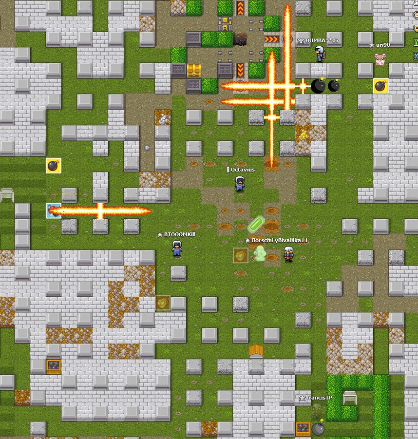 image d'un jeu de bonhommes posant des bombes partout !